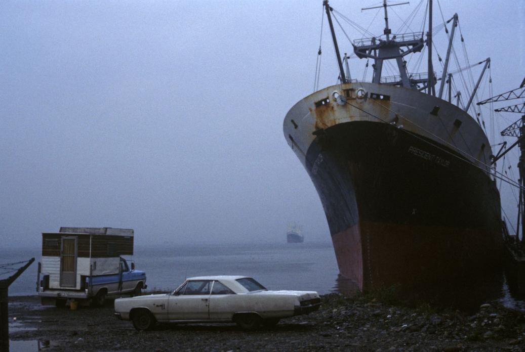 Waterfront (Cars and Ship), 1980