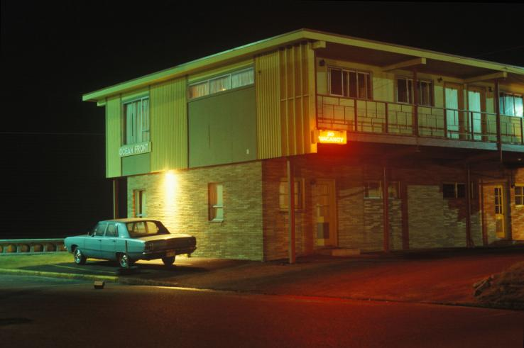 Motel and Car, Seaside, Oregon, 1981