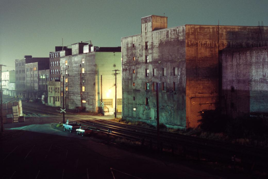 Buildings on Railway Ave. 1975