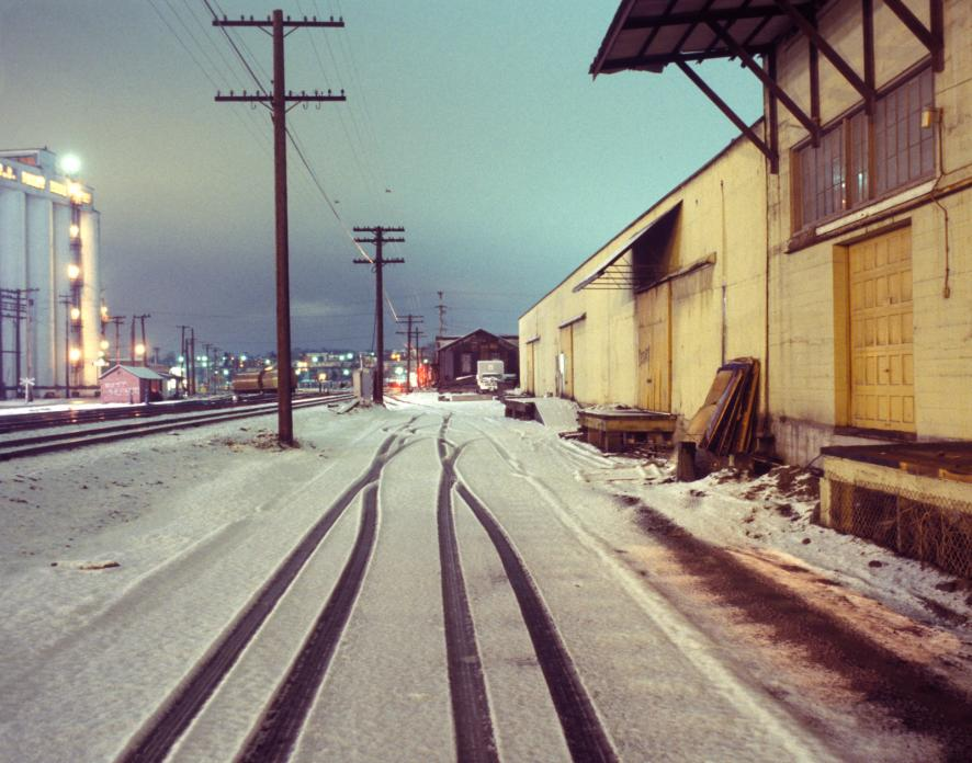 Tracks and Snow near Waterfront. 1980