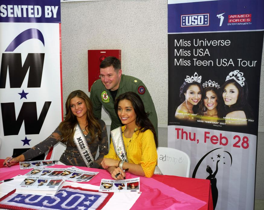 Miss America visiting Atsugi Naval Air Station, Japan. 2008