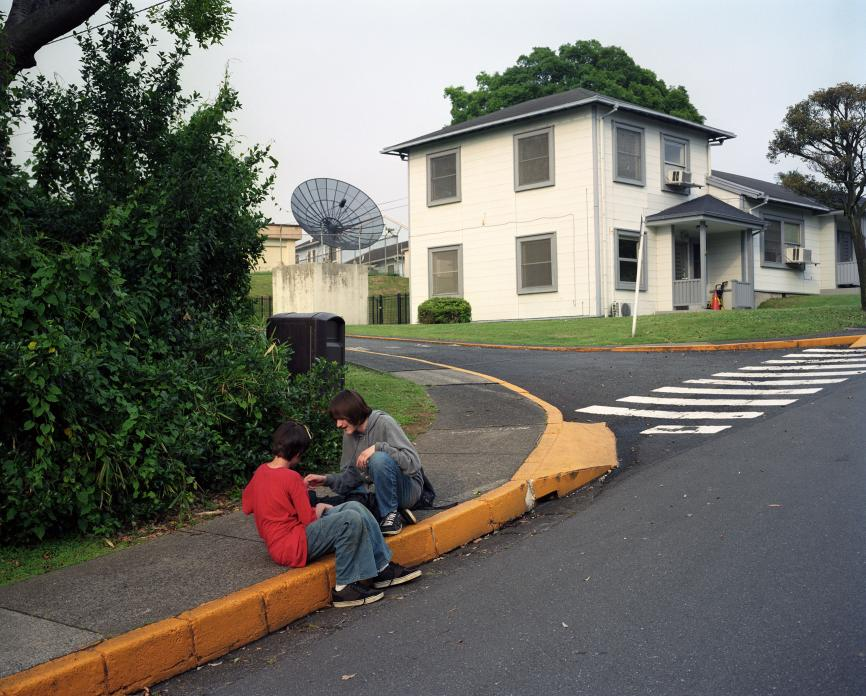 Boys on Curb, US Navy Negishi Housing Area, Yokohama, Japan. 2009