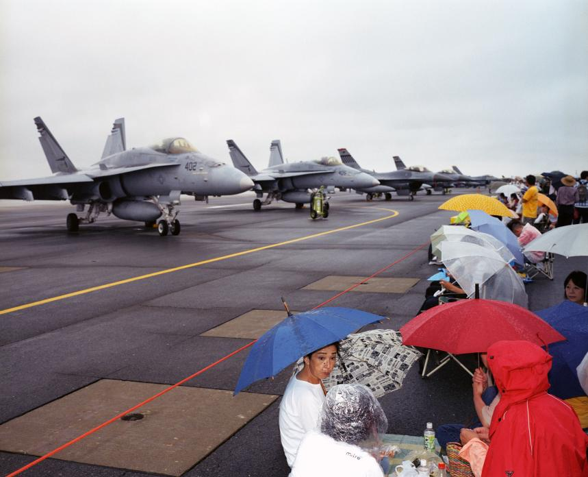 Picnic on Flight Line, Misawa Air Base, Japan. 2008