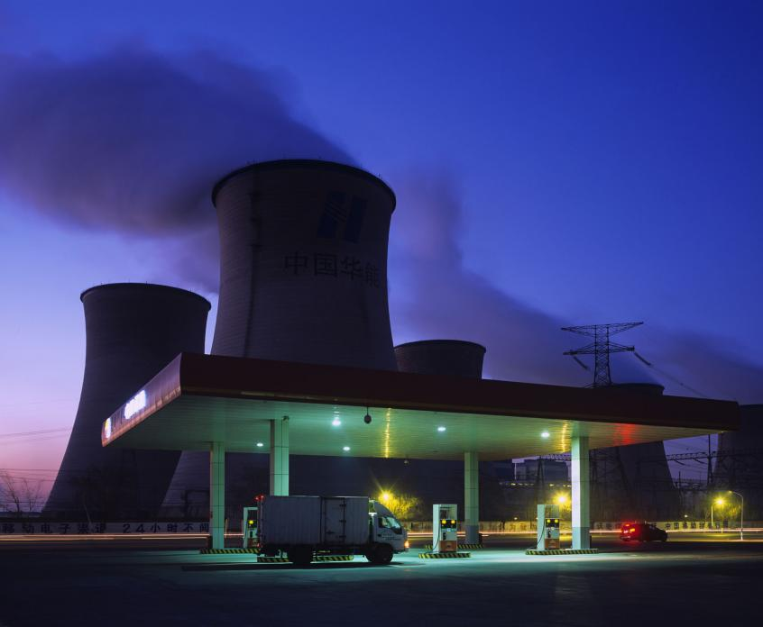 Petrol Station and Cooling Towers, Inner Mongolia, Bloomberg Markets Magazine. 2012