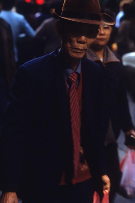 Man in Hat, Wanchai, 1983