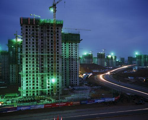 New high-rises, Ordos, Inner Mongolia. 'Can China Go Green?' National Geographic, June, 2011