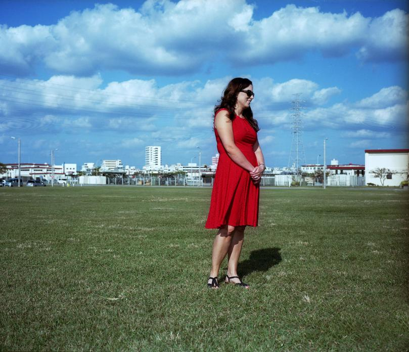 Woman in Red Dress, USMC Camp Foster, Okinawa. 2014